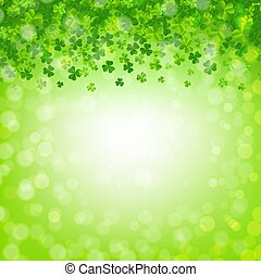 Banner With Clovers And Bokeh