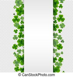 Banner With Clovers Transparent Background