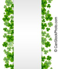 Banner With Clovers