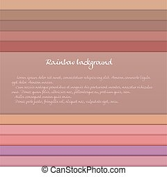 Banner with colored horizontal stripes in pastel orange and purple tones