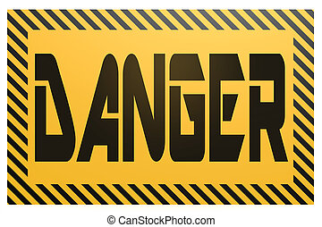Banner with danger word