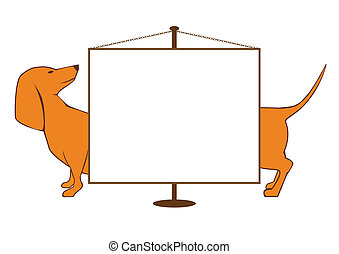 banner with dog - vector illustration of the banner with dog