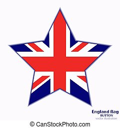 Banner with flag of England. Vector.