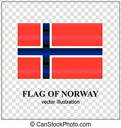 Banner with flag of Norway.