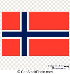 Banner with flag of Norway. Vector.
