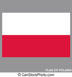 Banner with flag of Poland.