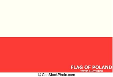 Banner with flag of Poland. Vector.