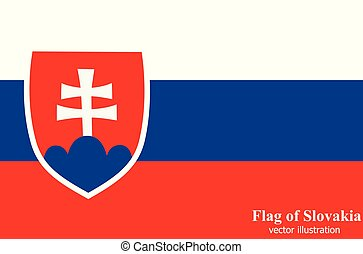 Banner with flag of Slovakia. Vector.