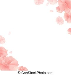 Banner With Flowers And White Background