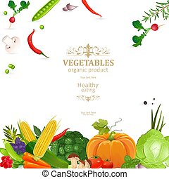 banner with fresh vegetables for your design