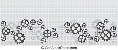 Banner with gears