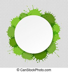 Banner With Green Blobs Transparent Background