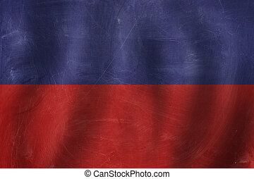 banner with Haiti flag background. Travel in Haiti concept