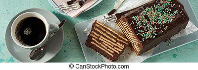 Banner with Kalter Hund chocolate cake