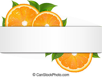 Banner With Orange