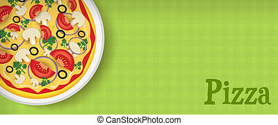 Banner with pizza