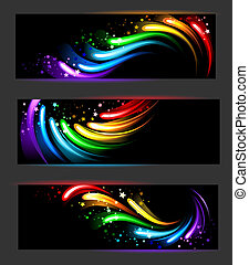 banner with rainbow pattern