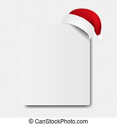Banner With Santa Claus Cap transparent Background With ...
