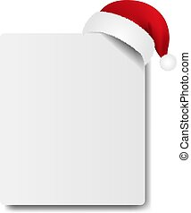 Banner With Santa Claus Cap With Gradient Mesh, Vector ...