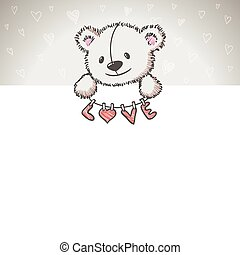 Banner with sketch style bear