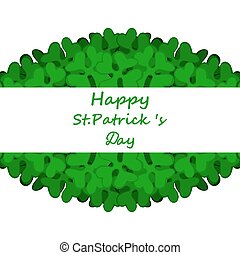 Banner with St. Patrick's Day clover decorated