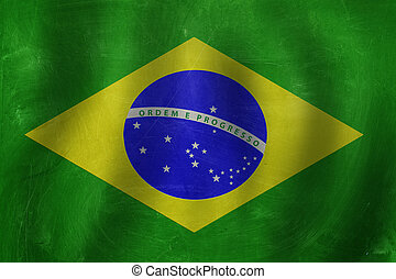 banner with the Brazil flag background