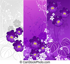 banner with violets