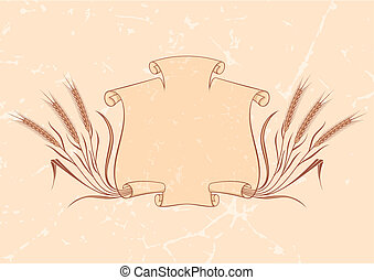 Banner with wheat beige vector