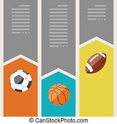 banners., スポーツ, optional, infographics