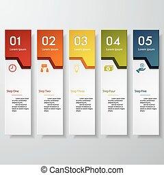 banners., ベクトル, デザイン, 数, きれいにしなさい