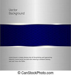 banners., abstrakt, hintergrund, silber, metallisch