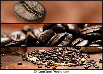 Banners - Coffee. Shallow depth of field