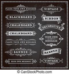 Banners, frames and ribbons - Vintage design elements - ...