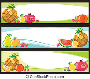 banners., fruta