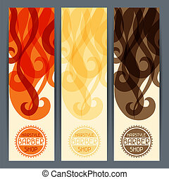 banners., hairstyle, verticaal