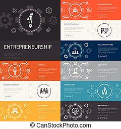 banners., investisseur, entrepreneurship, 10, ligne,...