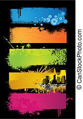 banners., jogo, colorido