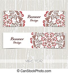 Banners Ornament Red Berries