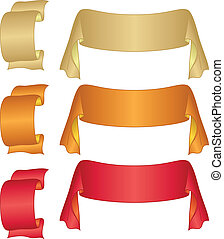 Banners ribbons, set - Set of banners modern ribbons,...