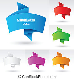 Banners set. - Wave Banners set number three. Illustration...