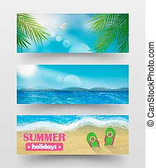 Banners summer holidays.