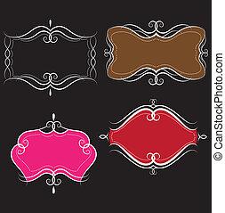 banners., swirls, vector, illustratie