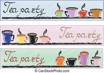 "Banners:"" tea party"""