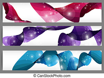 banners., trzy, komplet