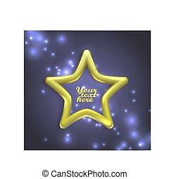 banners., vecteur, étoile, or, illustration