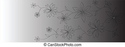 banners., vector, bloem