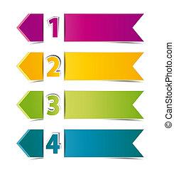banners - Design template numbered banners, vector...