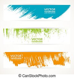 banners vector handmade abstract