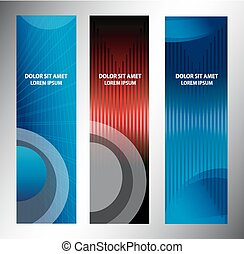 banners., vector, set, illustratie