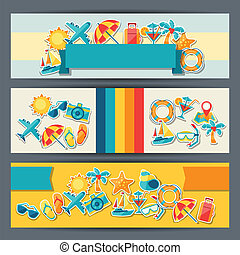 banners., viaje turismo, horizontal